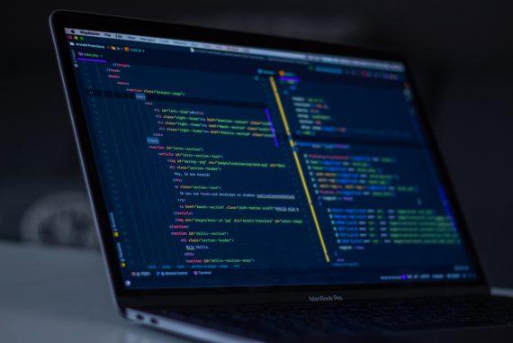 laptop screen showing code
