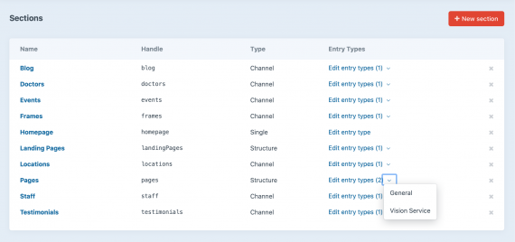 Singles, Channels, Structures, and Entry Types within Craft are configured to organize and manage your content according to project requirements