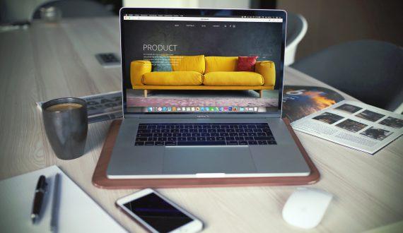 laptop showing full screen website
